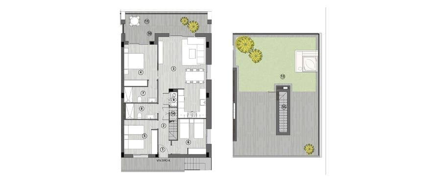 Iconic, Gran Alacant, plan attique 3 chambres