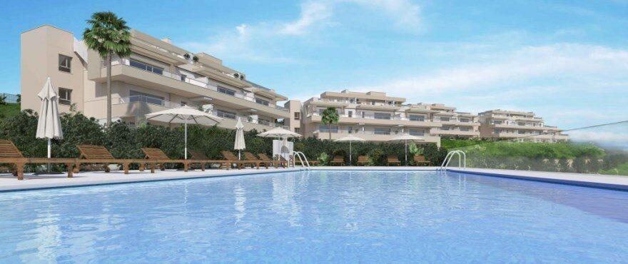 Harmony: : Apartments for sale with communal pool at La Cala Golf Resort