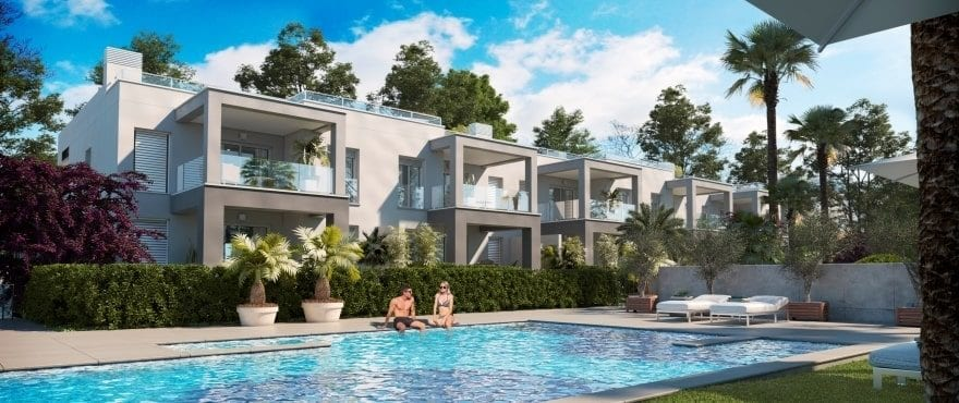 New exclusive apartments with communal pool