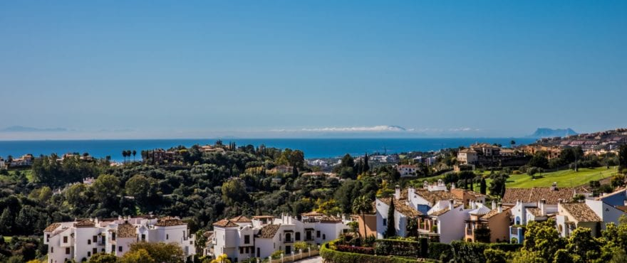 Spectacular golf and sea views from Botanic, exclusive 3 bedroom apartments in Benahavis, Marbella, Costa del Sol by Taylor Wimpey Spain