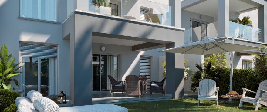 New ground floor apartments with private garden