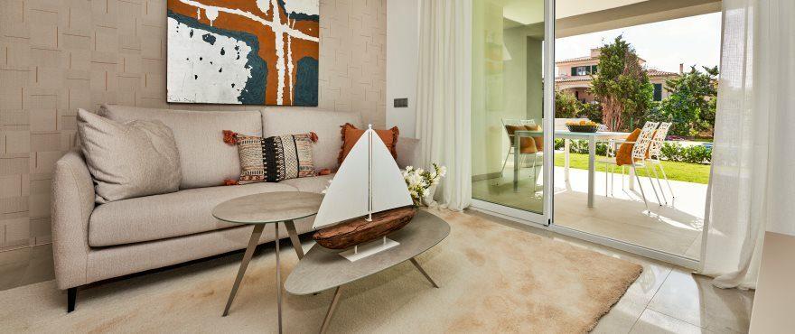 Bright spacious living room at Port Blau