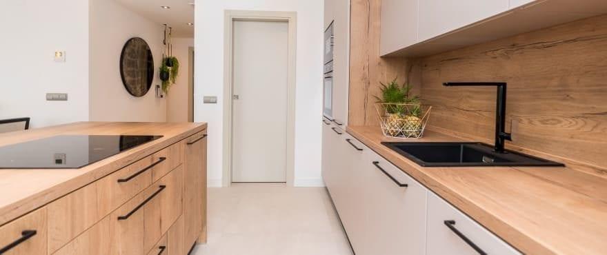 Modernt kök i de nya lägenheterna till salu, Harmony, La Cala Resort