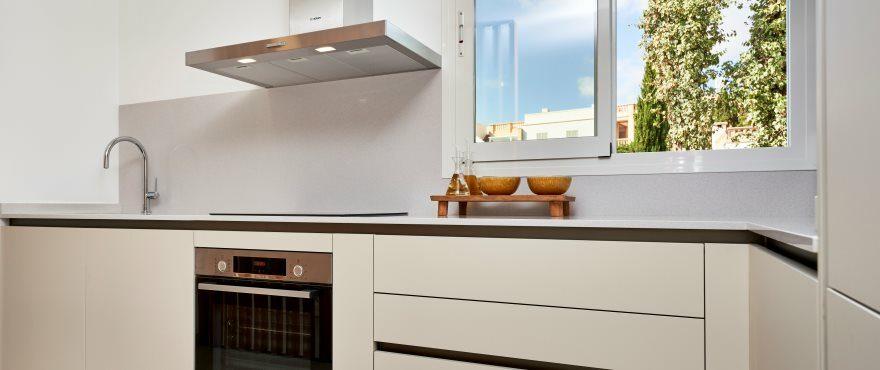 Modern open kitchen at Port Blau