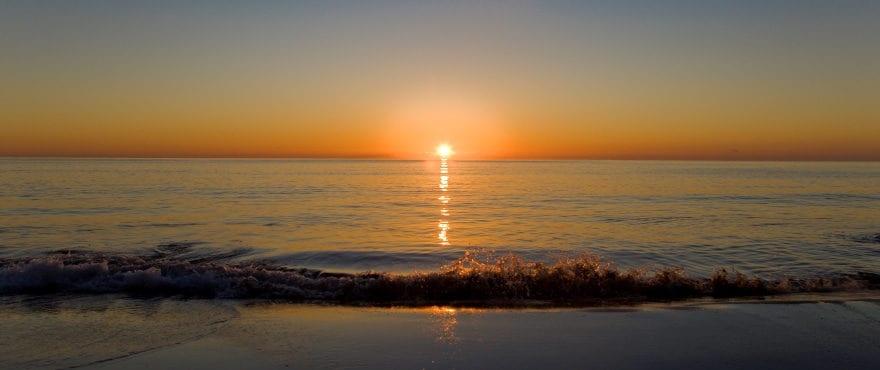 Sunrise from Port Verd, east coast of Mallorca