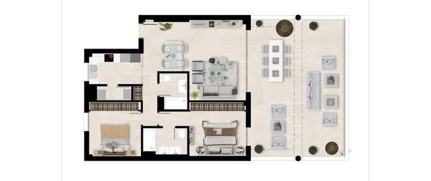 Harmony, planritning 2 sovrum - bottenvåningen