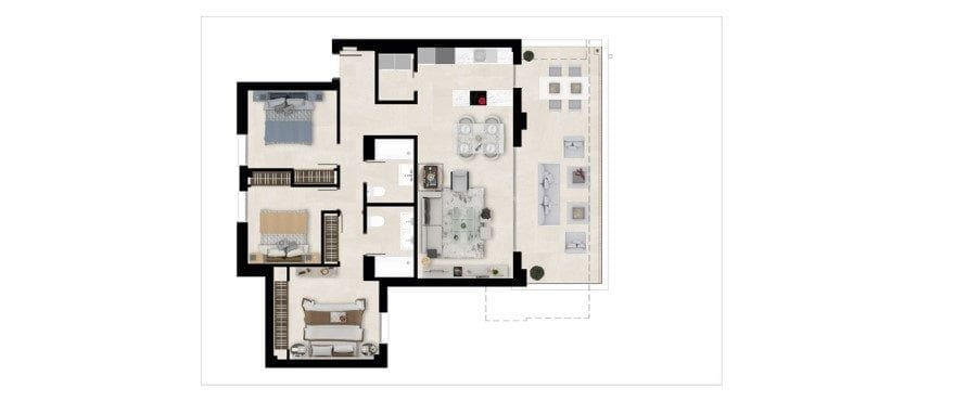 Harmony, plattegrond 3 slaapkamers. Eerste verdieping