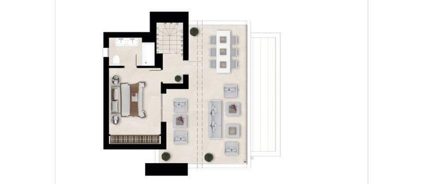 Harmony, plattegrond 2 slaapkamers, dakappartement - Solarium
