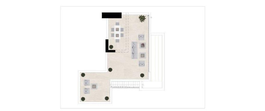 Harmony, plattegrond 3 slaapkamers, dakappartement - Solarium