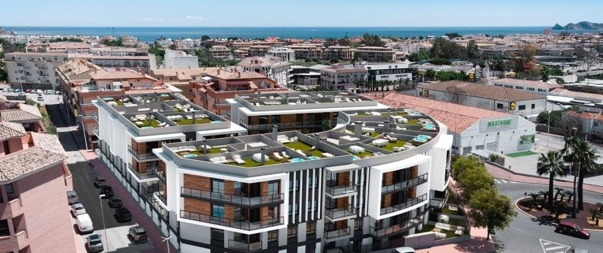Essential New 2 and 3-bed apartments for sale in Javea, Alicante, Costa Blanca , with every service available.