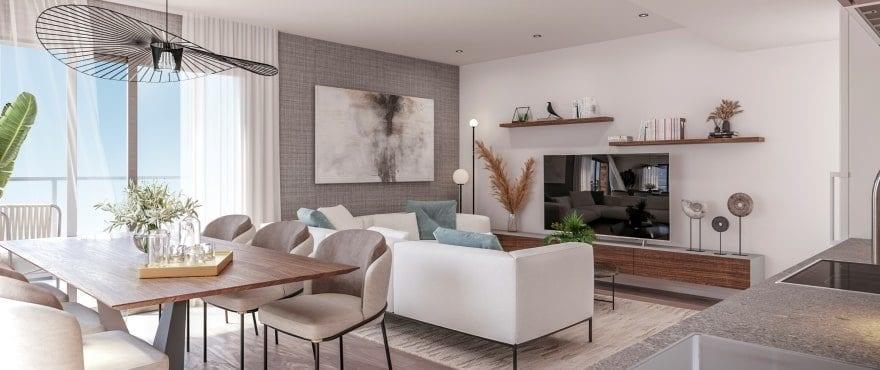 Bright living room at Essential, Jávea, Alicante