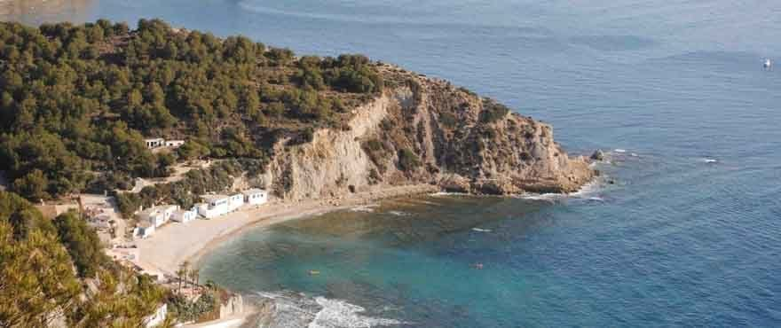 Crystalline waters at the beaches of Jávea, Costa Blanca