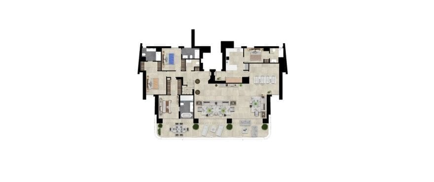 Pier 1, plan 4 bedrooms, Penthouse