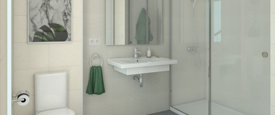 New townhouses for sale in Elche, Alicante: 2 Bathrooms + 1 toilet
