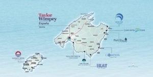 Mapa Mallorca - Apartamentos en venta, Taylor Wimpey España