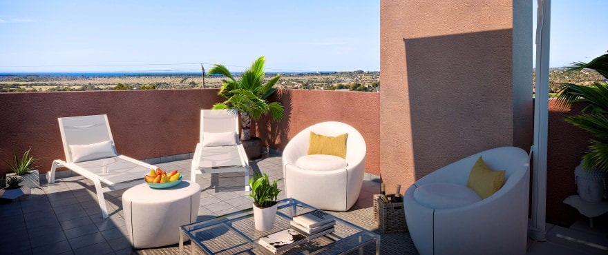 New apartments with large terraces in Ses Salines