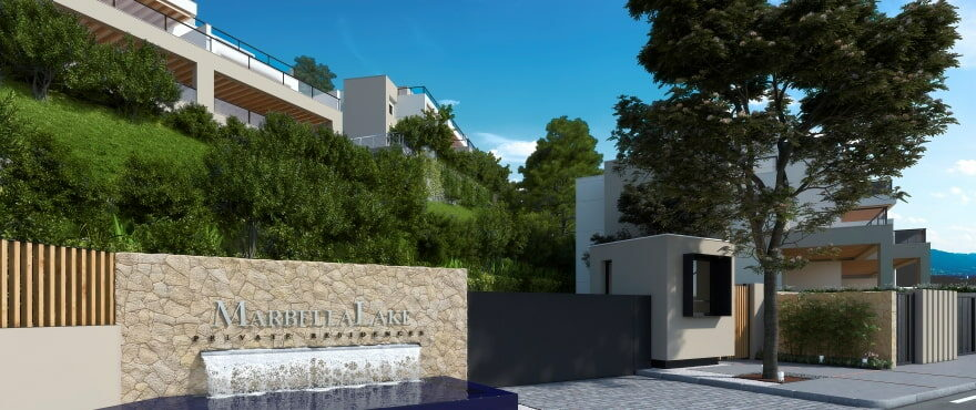 Marbella Lake, new apartments with communal pools and gardens