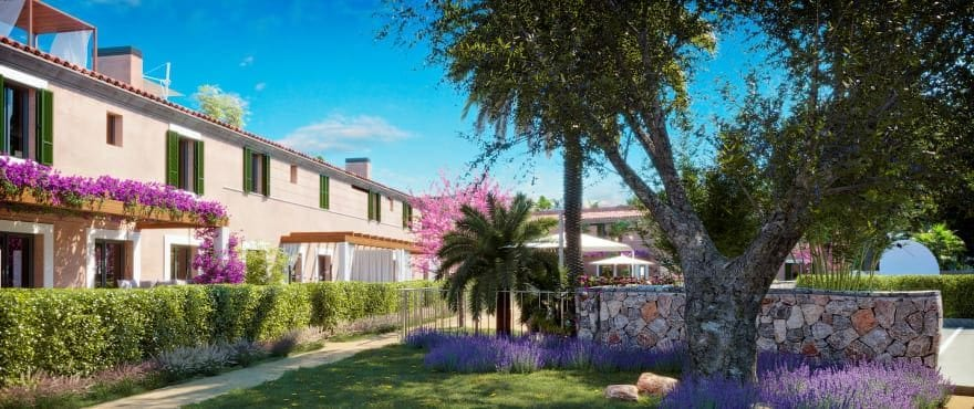 Ikat, new apartments with communal garden for sale in Mallorca