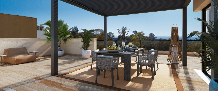 Marbella Lake, new apartments with terraces and panoramic views