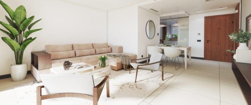 Marbella Lake, bright spacious living room with panoramic views