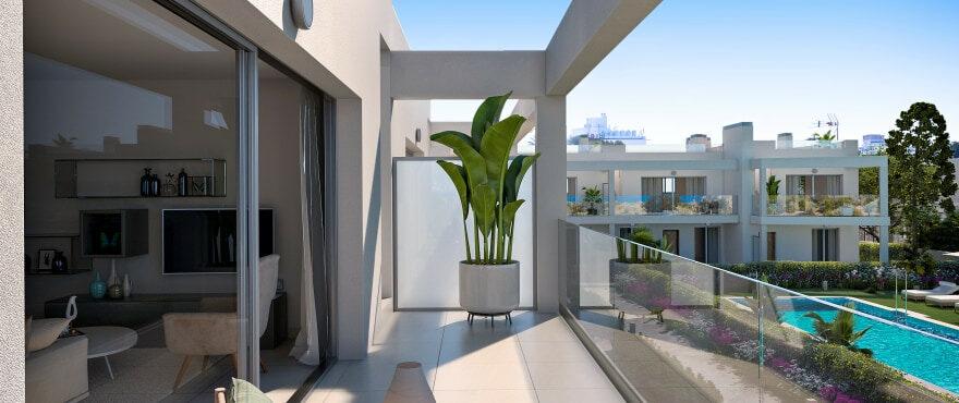 Nuevos adosados con amplias terrazas en Cala Estancia, Mallorca