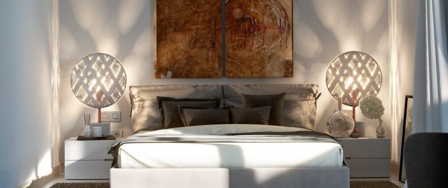 Dormitorio luminoso en Sa Galera