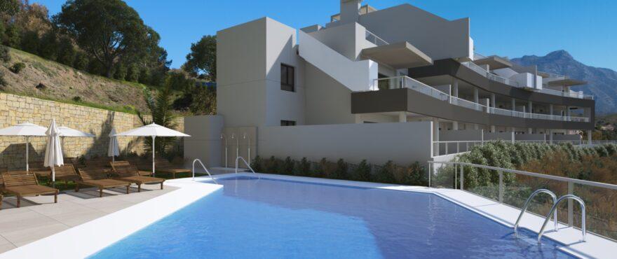 The Crest, apartamentos con piscina y jardines comunitarios, Benahavis