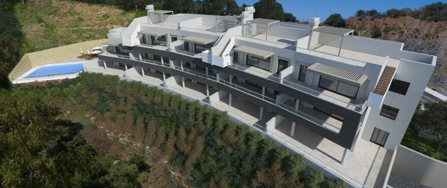 The Crest, appartementen met gemeenschappelijk zwembad en groene zones, Benahavis
