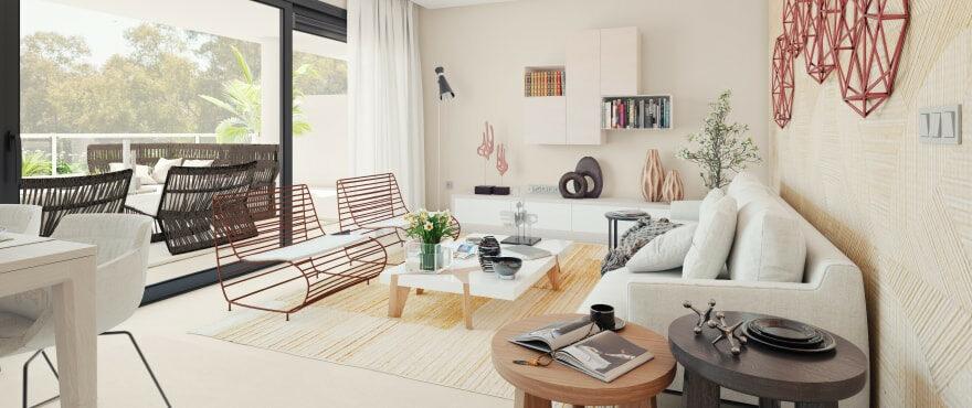 Heerlijk lichte woonkamer in de nieuwe woningen in The Crest, in La Quinta