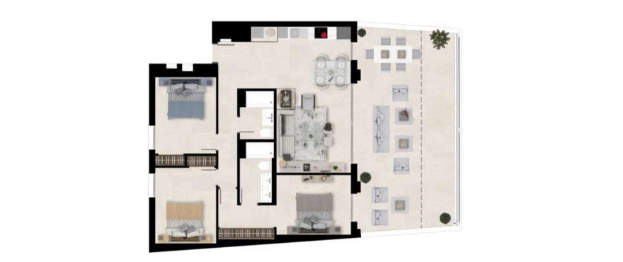 Plano - The Crest - La Quinta Golf Resort, Benahavis, Marbella (Malaga)