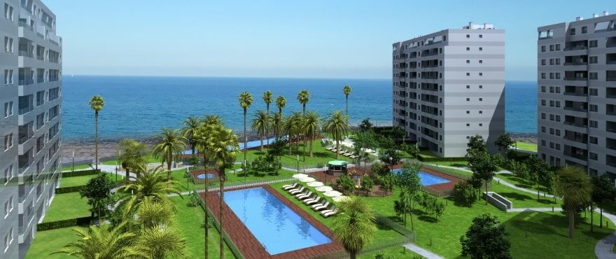 Posidonia: new apartments with swimming pools and communal garden