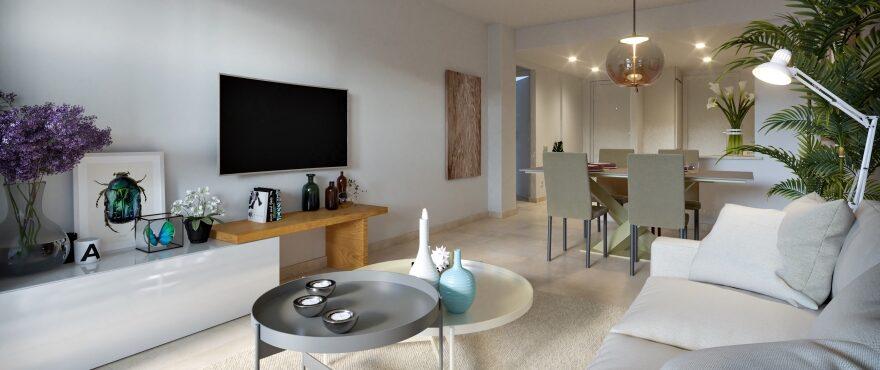 Bright spacious living room at Es Llaut