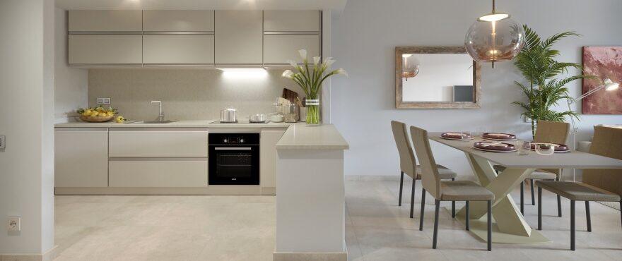 Modern open kitchen at Es Llaut