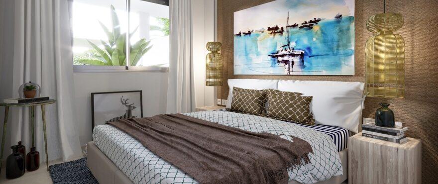 Bright bedroom at Es Llaut