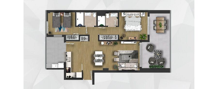 Plan new 2 bed apartments - Posidonia